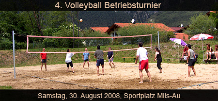 Volleyball-Betriebsturnier Mils 2008