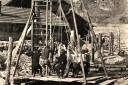 Pilotenschlagen am Larsennbach vor ca. 60 Jahren