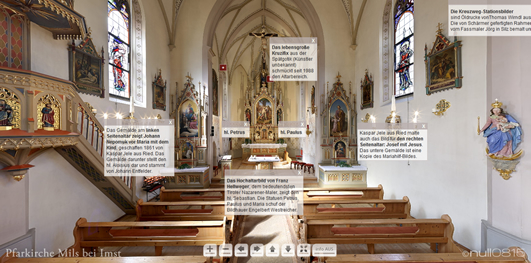 360°-Panorama der Pfarrkirche Mils bei Imst