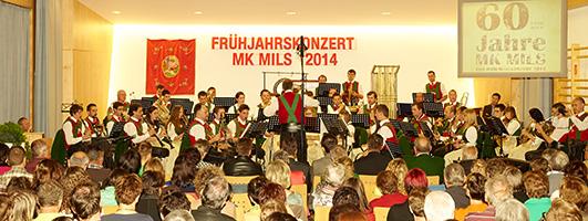 Frühjahrskonzert der Musikkapelle Mils bei Imst, 60 Jahre Jubiläumskonzert