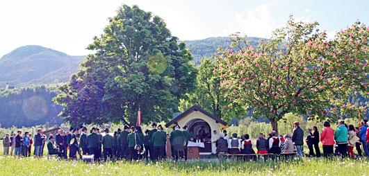 Bittgang zur Feldkapelle in Mils bei Imst